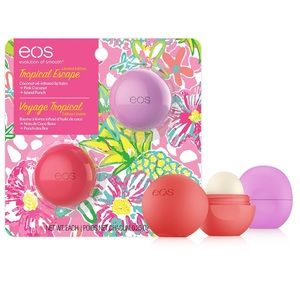 EOS Lip Balm 2 Pack Pink Coconut & Island Punch